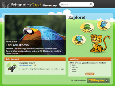 Britannica School website